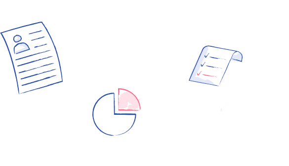 Image of floating papers and pie charts